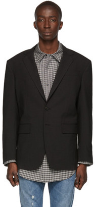 DSQUARED2 Grey Wool 80s Fit Blazer