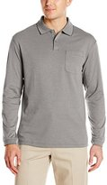 Haggar Men's Long Sleeve Minibox Knit Polo