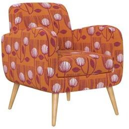"Hashtag Home Valeria 22.5"" Armchair Fabric: Orange Modern Tulip"
