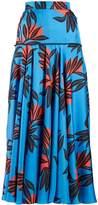 Roksanda Oni high-rise floral-print silk skirt