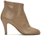 Maison Margiela Tan Stiletto Tabi Boots