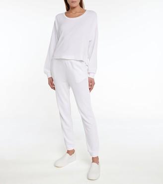 Lanston Cutout cotton-blend terry sweatshirt