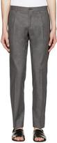 Dolce & Gabbana Grey Striped Fantasia Trousers