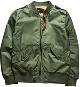 LETSQK Men's Casual MA-1 Air Force Solid Retro Flight Bomber Jacket Outwear XXL