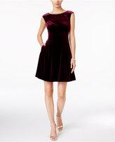 Vince Camuto Embellished Velvet Fit & Flare Dress