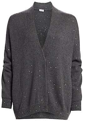 Brunello Cucinelli Women's Oversized Cashmere & Silk Cardigan Sweater