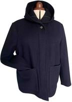 Margaret Howell Navy Wool Coat for Women