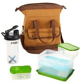 Fit & Fresh Douglas Insulated Bag Kit with Reusable Ice Pack - Brown