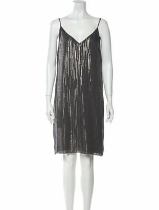 Equipment Silk Knee-Length Dress w/ Tags Grey