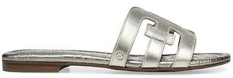 Sam Edelman Bay Flat Metallic Leather Sandals