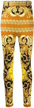 Versace High Waist Baroque Trousers