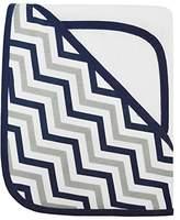 American Baby Company Zigzag Terry Hooded Towel Set, Dark Navy