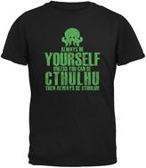 Old Glory Always Be Yourself Cthulhu Adult T-Shirt - 2X-Large