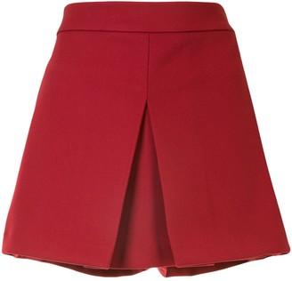 RED Valentino Front Slit High-Waisted Skorts