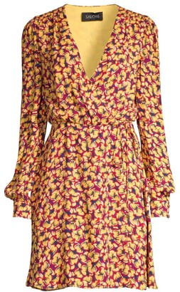 Saloni Lea Print Wrap Dress