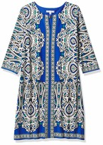 Thumbnail for your product : Sandra Darren Women's 1 PC 3/4 Sleeve Mirror Printed ITY Shift Dress
