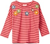 Mimi & Maggie Skipping Stripe Tee (Toddler & Little Girls)