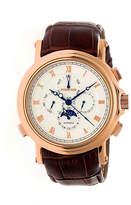 Heritor Kingsley Mens Brown Strap Watch-Herhr4804