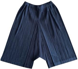 Pleats Please Black Polyester Shorts
