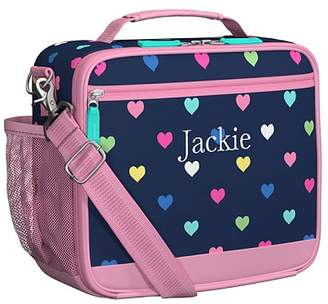 Pottery Barn Kids Mackenzie Navy Pink Multi Hearts Lunch Box