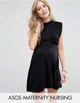 ASOS Maternity - Nursing ASOS Maternity Nursing High Neck Mini Dress