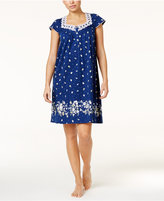 Charter Club Lace-Trimmed Border-Print Nightgown, Only at Macy's