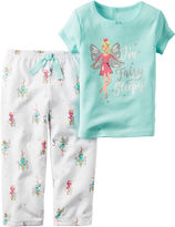Carter's 2-pc. Short-Sleeve I Fairy Sleepy Pajama Set - Baby Girls newborn-24m