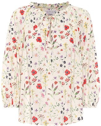 Velvet Exclusive to Mytheresa a Sharla floral blouse