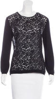 Nina Ricci Lace-Trimmed Wool Top w/ Tags