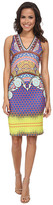 Hale Bob Spring Remix V-Neck Neoprene Dress