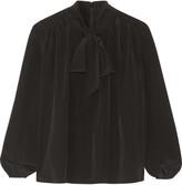 Co Pussy-bow silk crepe de chine blouse