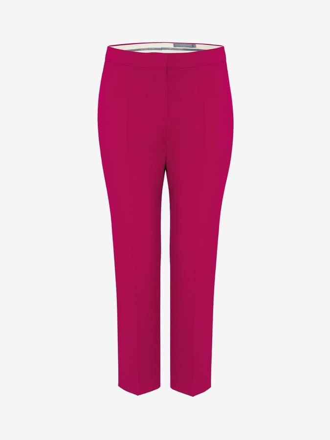 Alexander McQueen Wool Silk Cigarette Pants