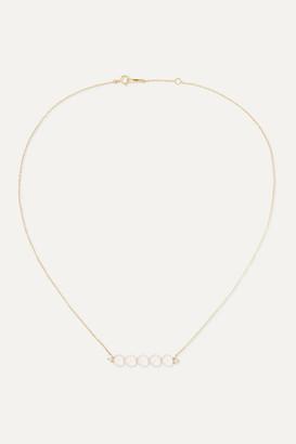 Mizuki 14-karat Gold, Pearl And Diamond Necklace - one size