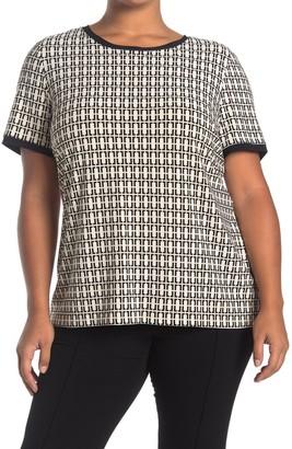 Anne Klein Chainlink Button Back T-Shirt