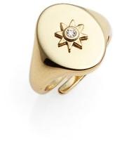 Luv Aj Women's Revel Starburst Signet Ring