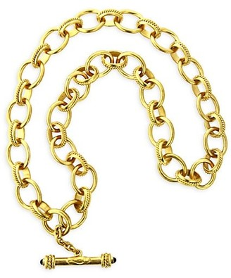 Elizabeth Locke Gold Lampedusa 19K Yellow Gold Medium Oval-Link Toggle Necklace