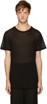 Ann Demeulemeester Black Ribbed T-Shirt