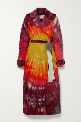 Gabriela Hearst Michael Double-breasted Tie-dyed Cashmere Trench Coat - Red