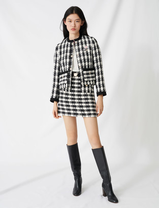 Maje Tweed-style cropped jacket