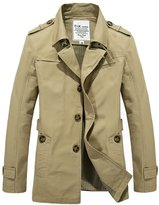 URBANFIND Men's Slim Fit Classic Single Breasted Wind Jacket