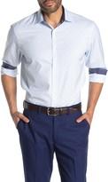 Construct Dot Long Sleeve 4-Way Stretch Slim Fit Shirt