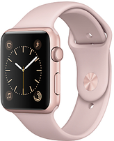 Apple Watch Series 1 42mm Rose Gold Aluminium Case with Sport Band, Pink Sand