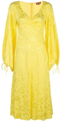 STAUD embroidered-details midi dress