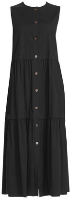 Lafayette 148 New York Nadine Tiered Button Dress