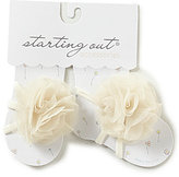 Starting Out Baby Girls Mesh Flower Barefoot Sandals