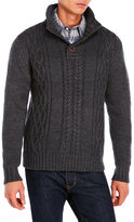 Weatherproof Snap Button Mock Neck Sweater