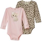 Baby Starters Baby Girl 2-pk. Animal & Cat Bodysuits