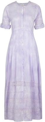 LoveShackFancy Edie lilac cotton midi dress