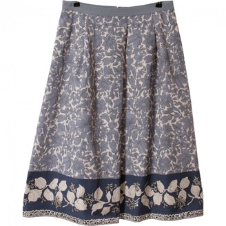 Max Mara Weekend Blue Cotton Skirt for Women