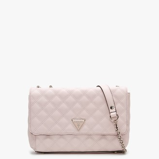 GUESS Cessily Convertible Flap Nude Quilted Shoulder Bag